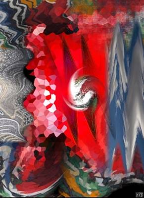 Art Print featuring the digital art Abstract by Kelly McManus