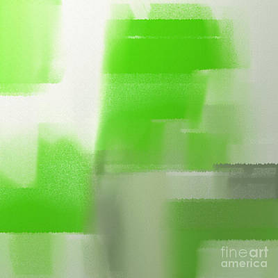 Digital Art - Abstract Keylime Green Square by Andee Design