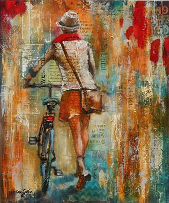 Abstract Purse Painting - Abstract Lady 1  by Susan Goh