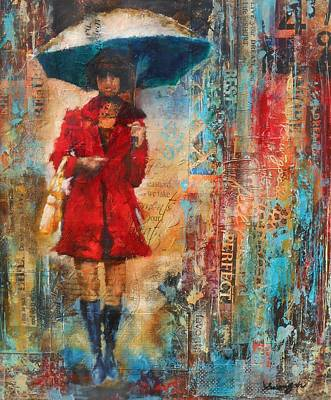 Abstract Purse Painting - Abstract Lady 8 by Susan Goh