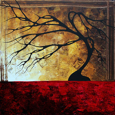 Abstract Landscape Art Original Painting Engage Me By Madart Art Print by Megan Duncanson