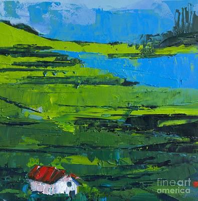 Brick Houses Painting - Abstract Landscape No 3 by Patricia Awapara