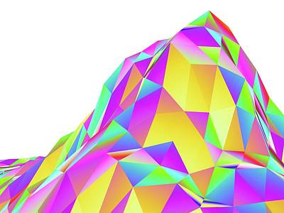 Abstract Landscape Of Polygons Art Print
