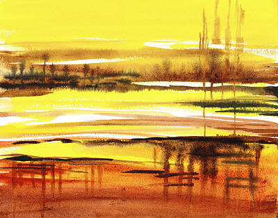 Abstract Landscape Reflections I Art Print