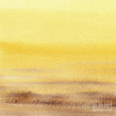 Abstract Landscape Royalty-Free and Rights-Managed Images - Abstract Landscape Yellow Glow by Irina Sztukowski