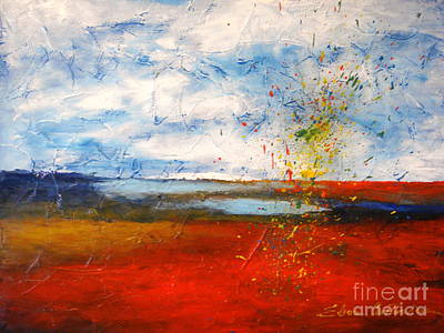 Painting - Abstract Lanscape by Elena  Constantinescu