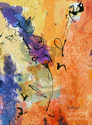 Painting - Abstract Lavender Modern Decor by Ginette Callaway