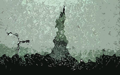 Abstract Liberty On 9/11 Art Print by Kosior