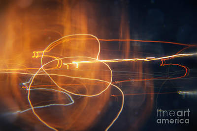 Abstract Light Streaks Art Print by Pixel Chimp