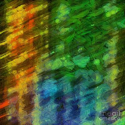 Color Study Photograph - Abstract Lines 10 by Edward Fielding