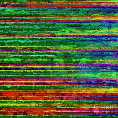 Color Study Photograph - Abstract Lines 9 by Edward Fielding