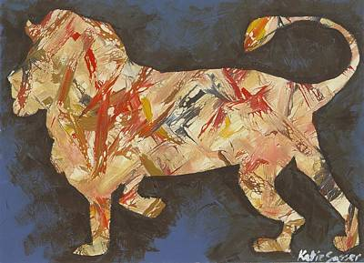 Painting - Abstract Lion by Katie Sasser