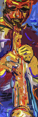 Abstract Live Session Jazz Art Print
