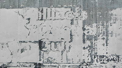 Photograph - Abstract Metal Faded Text by Anita Burgermeister
