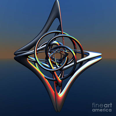 Abstract Metal Art Print by Melissa Messick