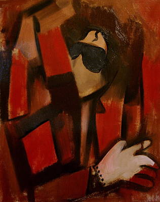 Painting - Abstract Cubism Michael Jackson Art Print by Tommervik