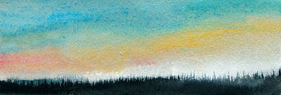 Abstract Minimalist Horizon Art Print by R Kyllo