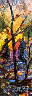 Abstract Modern Autumn Scene  Art Print
