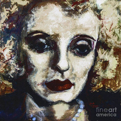 Painting - Abstract Modern Bette Davis by Ginette Callaway