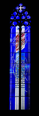 Photograph - Abstract Modern Stained Glass Window by Georgia Mizuleva