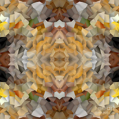 Digital Art - Abstract Mosaic In Earthy Tones by Beverly Claire Kaiya