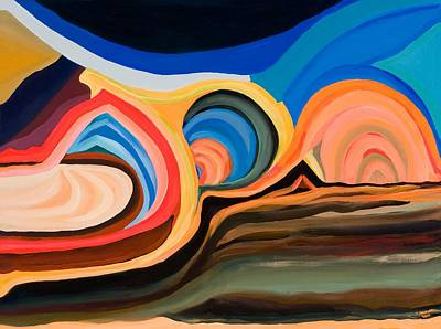 Abstract Mountain And Seascape Art Print