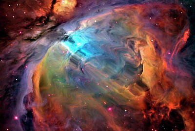Digital Art - Abstract Multicolored Outer Space by Gary Waters