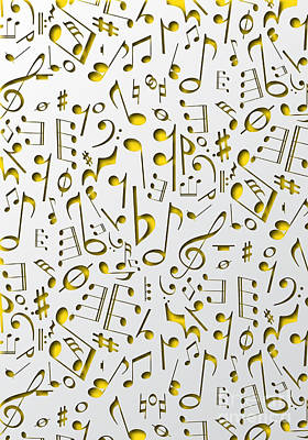 Live Jazz Quartet Digital Art - Abstract Music Poster by Andre Araujo