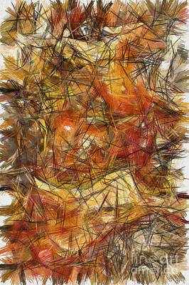 Digital Art - Abstract - Needle In A Haystack by Liane Wright