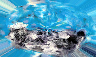 Encaustic Photograph - Abstract Nine Of Twenty One by Carl Deaville