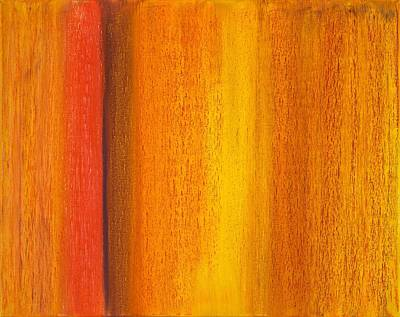 Exhibits Painting - Abstract No 16 Per Fenestram Sole Novum by Brian Broadway
