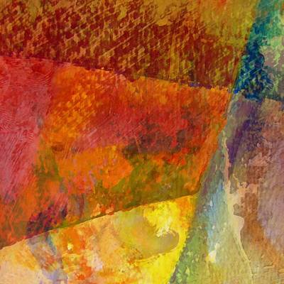 Food And Flowers Still Life - Abstract No. 2 by Michelle Calkins
