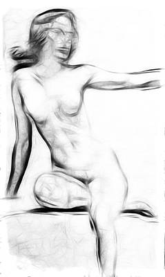 Girls Painting - Abstract Nude 2 by Steve K