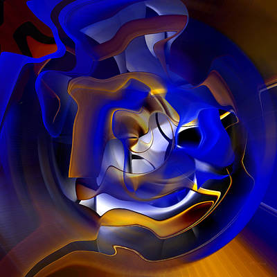 Digital Art - Blue Enclosure - 006 by rd Erickson