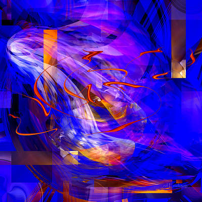 Digital Art - Written In Fire - 007 by rd Erickson