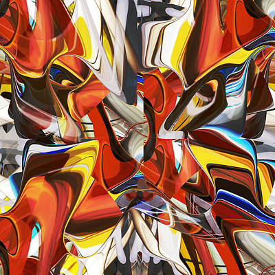 Digital Art - Multicolored Butterfly - 019 by rd Erickson
