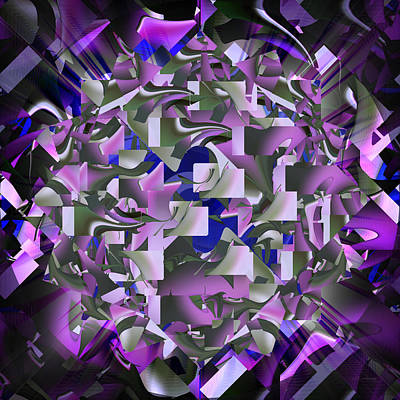 Digital Art - Lavender Confetti - 024 by rd Erickson