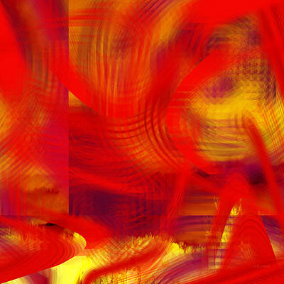 Digital Art - Wow In Red - 052 by rd Erickson