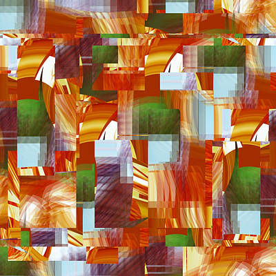 Digital Art - Basket Weave - 064 by rd Erickson