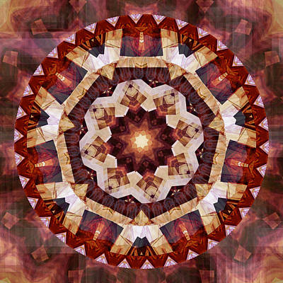 Digital Art - Mandala 3 - 076 by rd Erickson