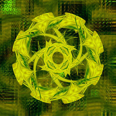 Digital Art - Mandala 4 - 077 by rd Erickson