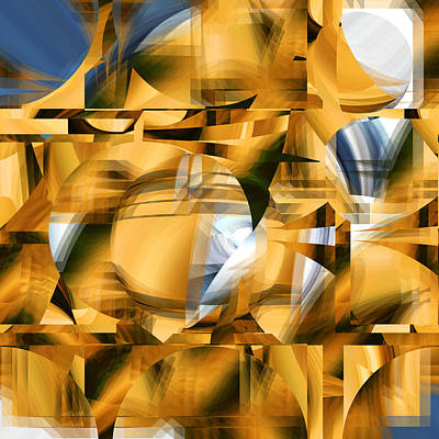 Digital Art - Moonlight On Gold - 085 by rd Erickson