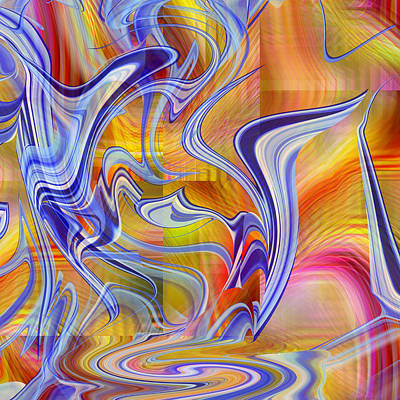 Digital Art - Abstract Number 090 - Dancing Through A Rainbow by rd Erickson