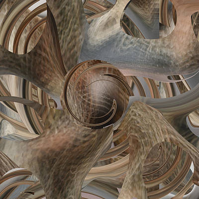 Digital Art - Abstract Number 098 - Dirt Ball by rd Erickson