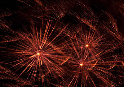 Abstract Of Fireworks On Black Art Print