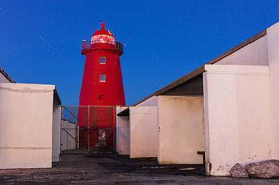 Photograph - Abstract Of The Red Lighthouse by Semmick Photo