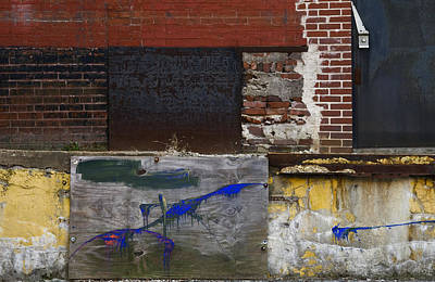 Photograph - Abstract On The Loading Dock Aka Jackson Pollock Img 7861 by Greg Kluempers
