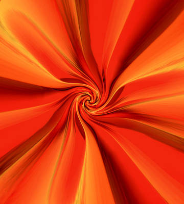Digital Art - Abstract Orange by Jennifer Muller