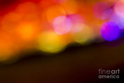 Abstract Orange Yellow Purple Art Print by Marvin Spates