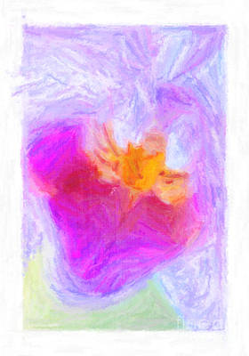 Abstract Orchid Pastel Art Print